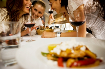 Girlfriends dining